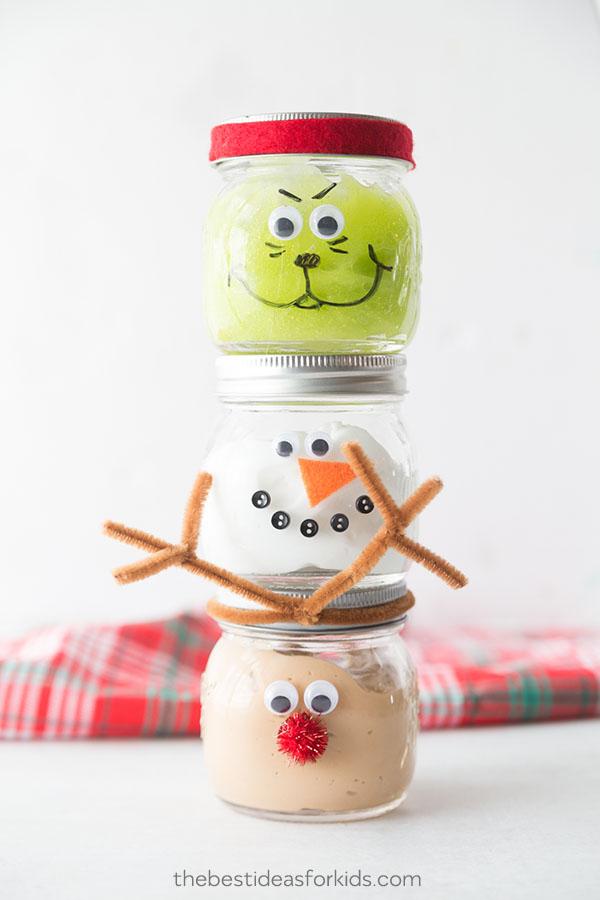 Christmas Slime Jars Fun Family Crafts