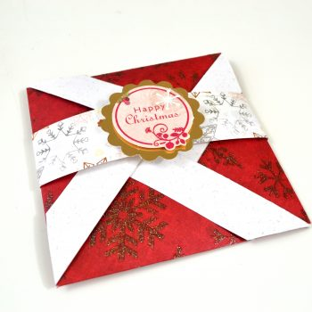 Pinwheel Folding Pop-Up Christmas Card