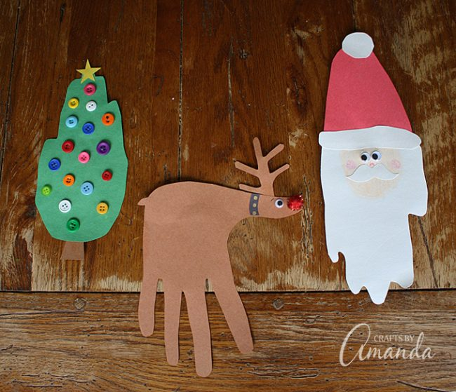 Christmas Handprint Crafts Fun Family Crafts