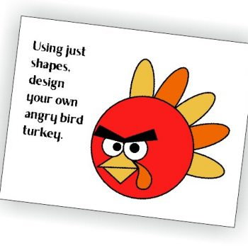 Angry Bird Turkey Printable