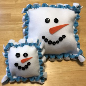 No-Sew Snowman Pillow