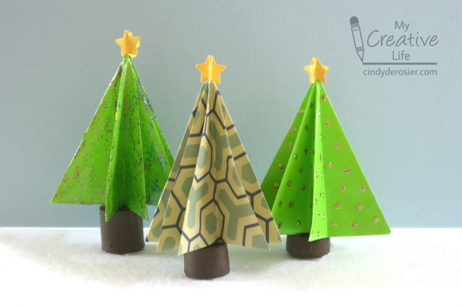 Create A Forest Of Origami Trees Using Paper And Cork Its An Easy Project For Kids Who Are Novices