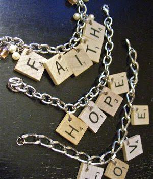 Scrabble Bracelets