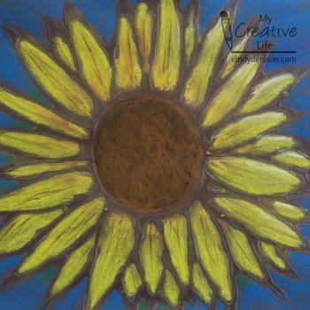 Glue-Resist Sunflower