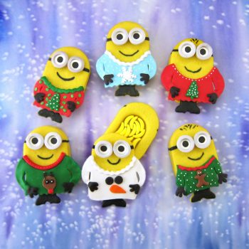 Minion Christmas Piñata Cookies