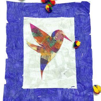 Crepe Paper Hummingbird