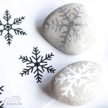 Painted Rock Snowflakes