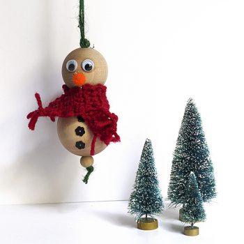 Wood Beads Snowman