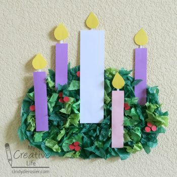 Tissue Paper Advent Wreath