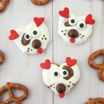 White Chocolate Pretzel Puppies
