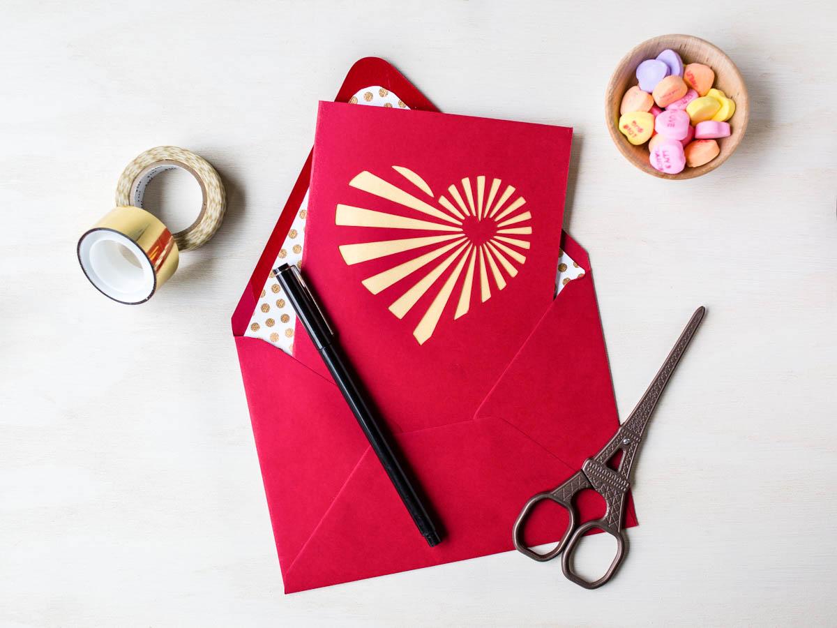 heartburst valentine card  fun family crafts