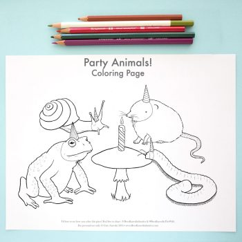 Party Animals Coloring Page