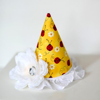 No Sew Fabric Party Hat
