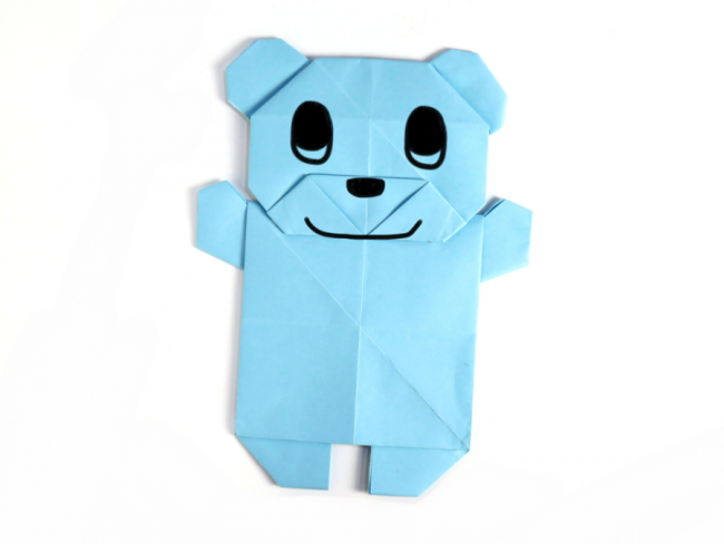 Create An Adorable Origami Teddy Bear Using Two Sheets Of Paper The Detailed Instructions And Clear Photos Make It Easy