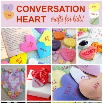 Conversation Heart Crafts for Kids