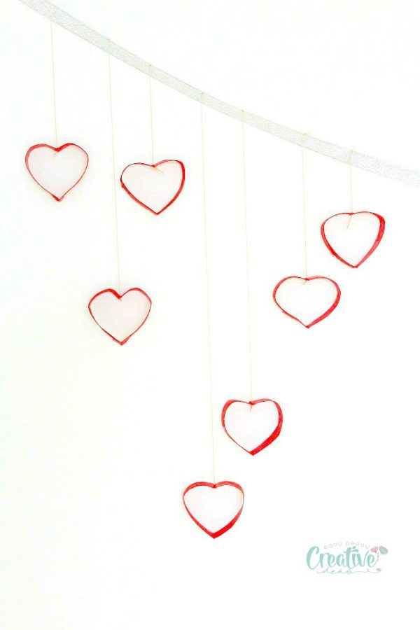 Cardboard tube heart mobile fun family crafts cardboard tube heart mobile ccuart Choice Image