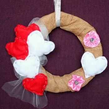 Rustic Valentine's Day Wreath