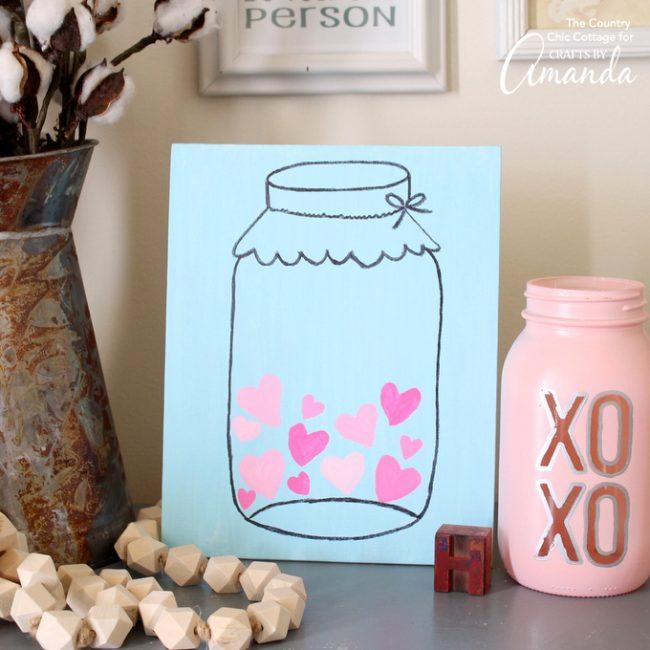 Mason Jar Valentine S Day Art Fun Family Crafts
