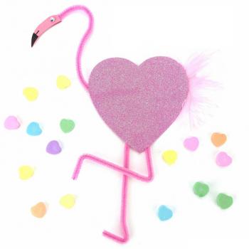Pink Flamingo Valentine