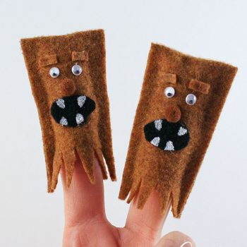 Wookie Finger Puppets