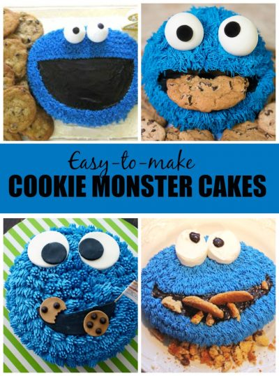 easy Cookie Monster cakes