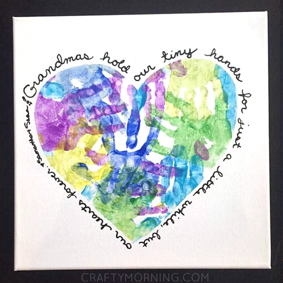 Handprint Heart Canvas