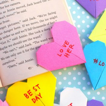 Origami Conversation Heart Bookmarks