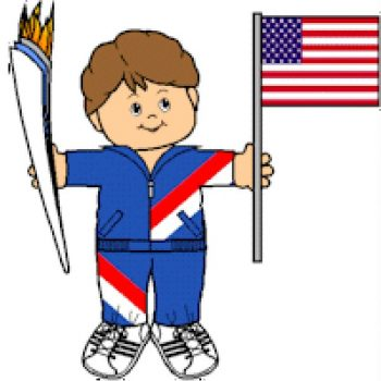 Printable Olympic Torch Bearer Paper Doll