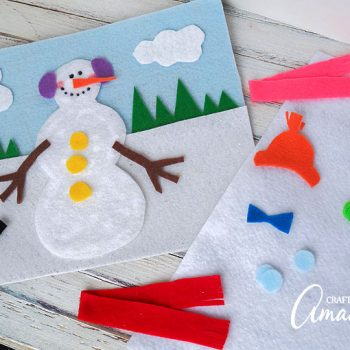 Snowman Felt Board & Snowman crafts Archives | Fun Family Crafts