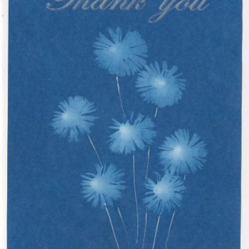 Sun Print Thank You Card