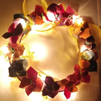 Light-Up Paper Flower Wreath