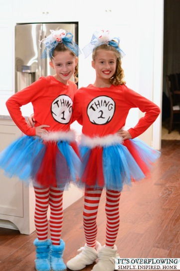 Thing 1 And Thing 2 Shirts An Easy Dr Seuss Costume