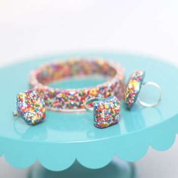 Resin Sprinkle Rings and Bracelets