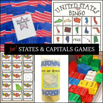 US States and Capitals Game