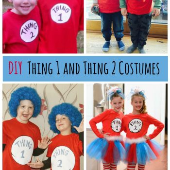 Super fun DIY Thing 1 and Thing 2 shirts, great for Dr Seuss Day or Halloween custumes!