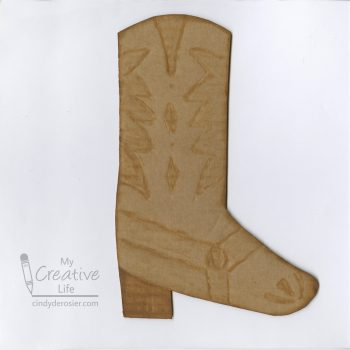 Cardboard Cowboy Boot