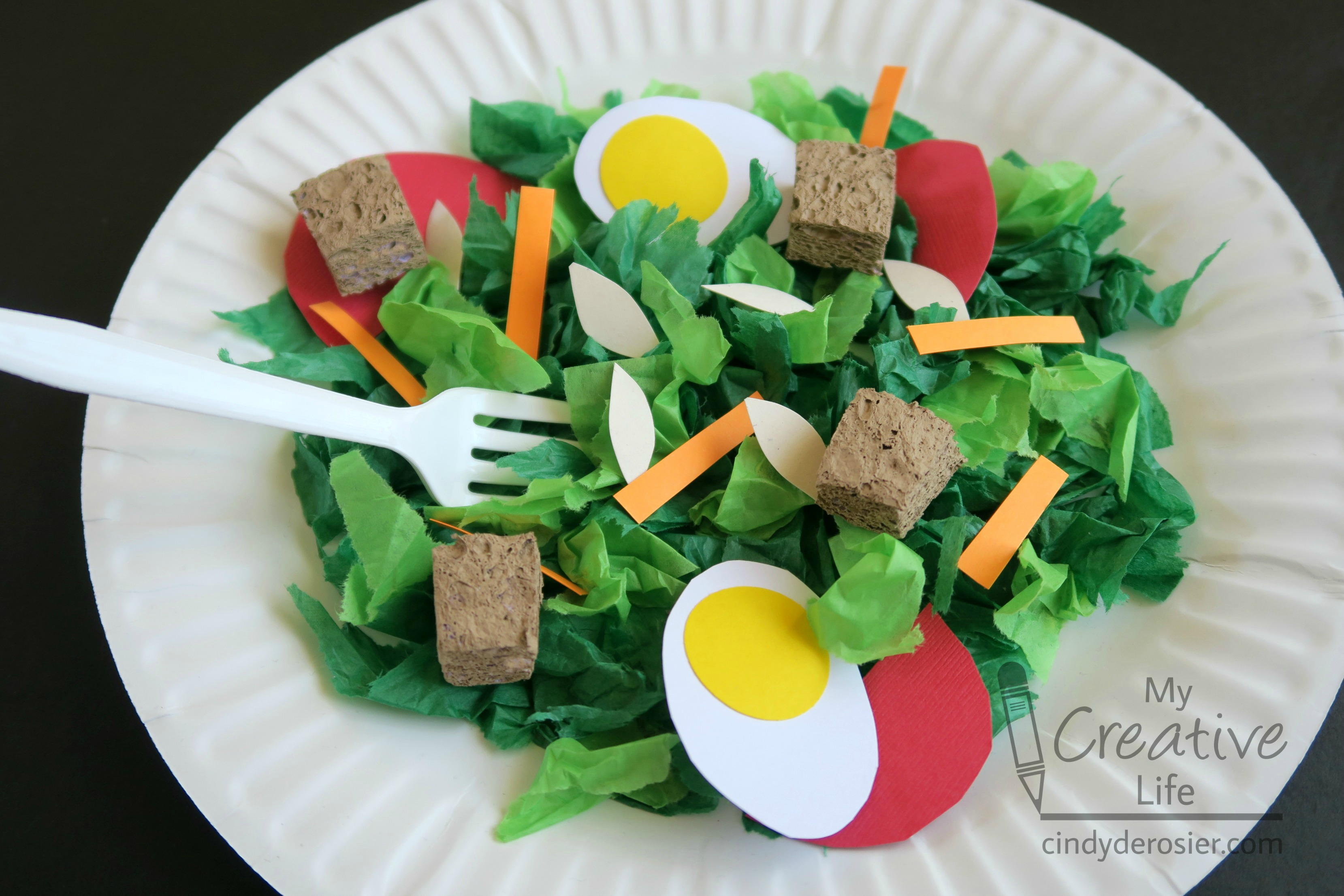 Paper plate crafts archives fun family crafts faux salad craft jeuxipadfo Image collections