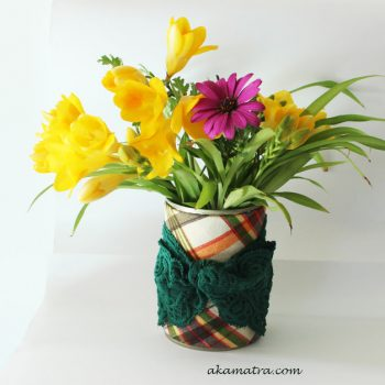 Recycled Can Spring Vase