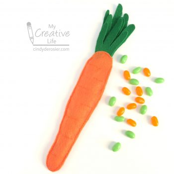 Candy-Stuffed Felt Carrot