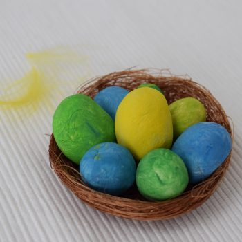 Air Dry Clay Eggs