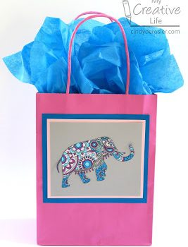Decorated Gift Bag from a Coloring Page