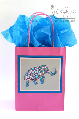 Decorated Gift Bag From A Coloring Page Fun Family Crafts