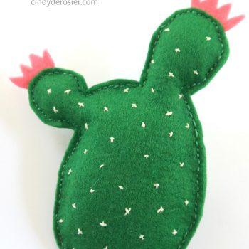 Stuffed Felt Cactus