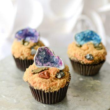 Edible Geode Cupcake Topper