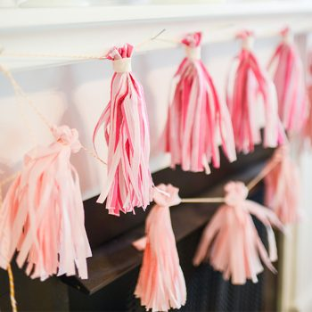 Easiest Tissue Tassel Garland