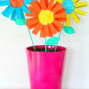 Colorful Cardboard Tube Flowers