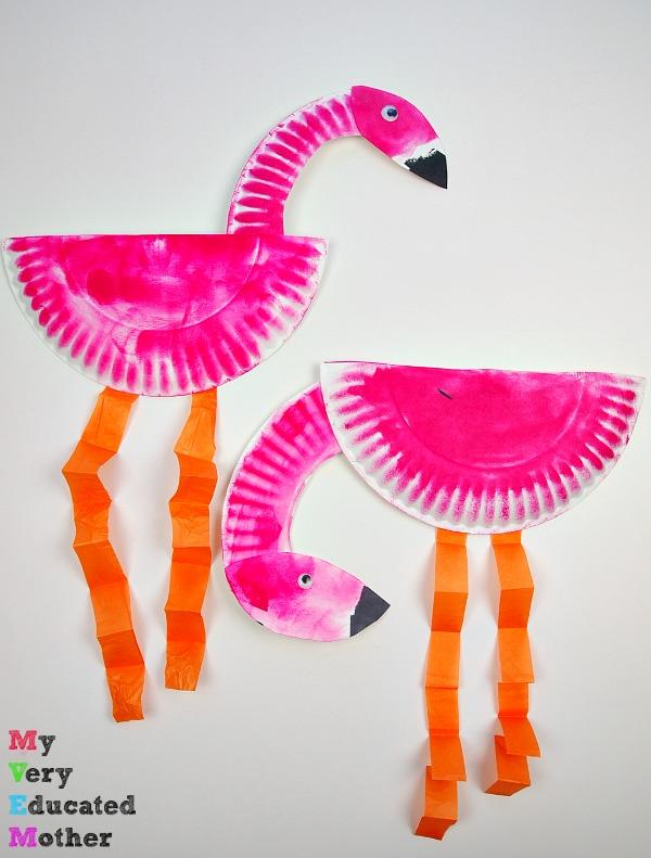 Paper Plate Flamingo & Paper Plate Flamingo | Fun Family Crafts