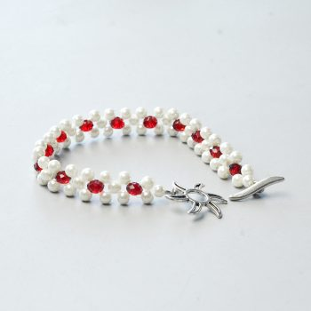 Pearl Beads Stitched Bracelet