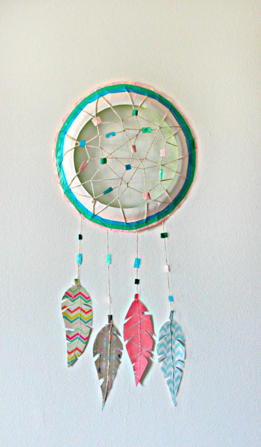 Paper Plate Dream Catcher Fun Family Crafts Extraordinary Making Dream Catchers With Kids