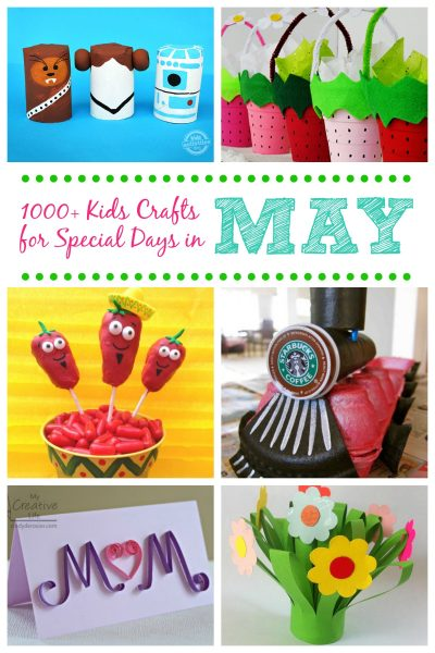 Kids crafts for holidays and special days in May